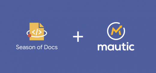 An image showing the Google Season of Docs and Mautic logos